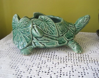 Vintage Planter McCoy turtle / tortoise Mc Coy Crash to Vintage