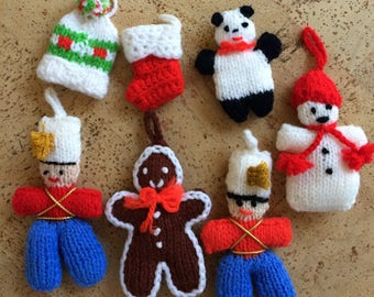 Christmas Ornaments Hand Knit