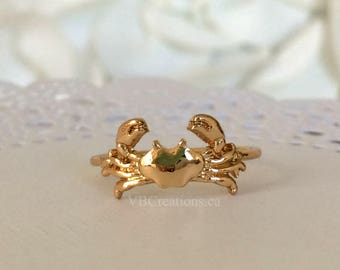 Crab Ring - Crayfish Ring - Lobster Ring - Lobster Jewelry - Crab Jewelry - Fish Ring - Fish Jewelry - Summer Ring - Size 7US - Gift Ideas