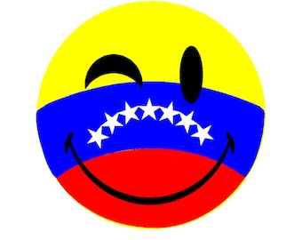 Venezuela happy face flag Car sticker
