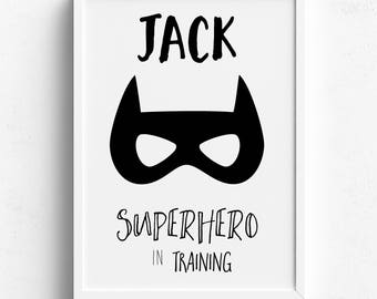 Superhero Nursery Prints | Superhero Bedroom Prints | Superhero Wall Art |  Batman Nursery Prints |