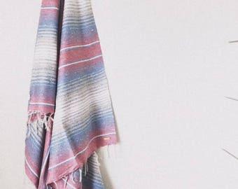 Stripe Beach style Mexican Blanket