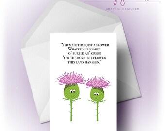 Scottish Thistle Couple | Card