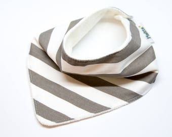 "Bandana with absorbent sponge ""gray and white stripes"""
