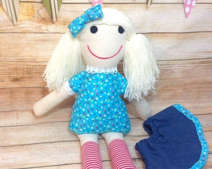 Xmas Soft Doll, Fabric Doll, Cloth Doll, First Doll, Handmade Doll, Birthday Gift, Rag Doll, Girls Gift