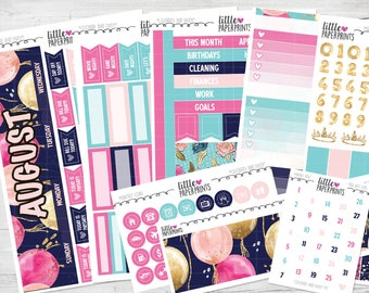 "AUGUST MONTHLY VIEW | ""Celebrate and Enjoy"" Glossy Kit 