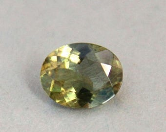 1.75 carats. Natural Leaf Green Apatite Oval cut Loose Gemstone for ring