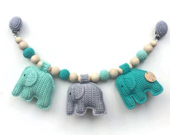 Stroller toy with elephants
