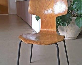 Early Rosewood Arne Jacobsen 3103 T Chair Fritz Hansen First Edition 1964