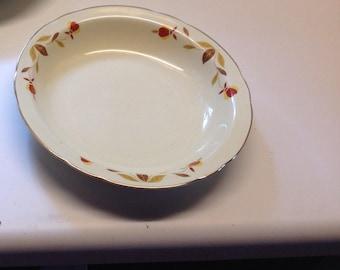 Hall Autumn Leaf Flat Soup Bowl