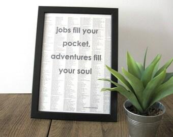 Poster, Print DinA4: Jobs fill your pocket