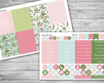 Flamingo Mini Kit for Erin Condren Life Planner