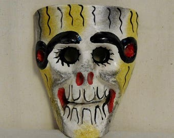 """Antique """"Day of the Dead"""" dance mask--one of a kind!"""