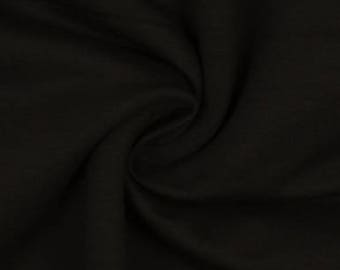 Black, Organic Cotton Lycra Jersey Knit Fabric