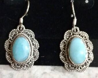Victorian Lace Larimar Earrings