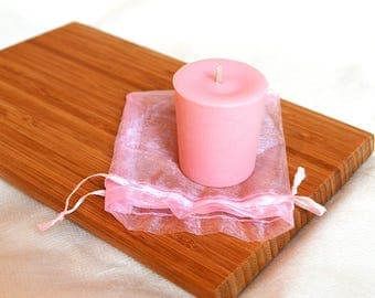 Rose in natural wax candle - votive - the Japan cherry blossom scent