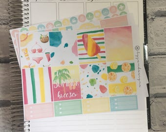 Just Beachy - MINI Weekly Sticker Kit, for use with EC LIFEPLANNER™ - Reformat