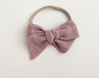 vintage bow | blush
