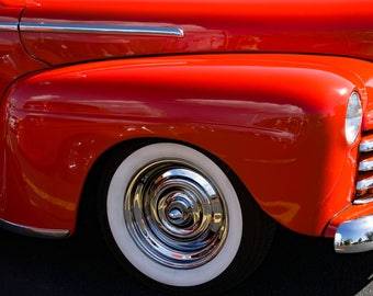 Red Hot, Classic Car Art, Chevy Photography,  Vintage Car Photo,  Nostalgia Art Print, Photography, Photo, Print