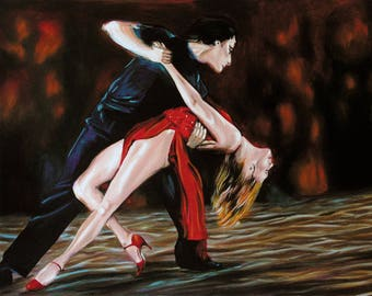 Painted Argentine tango