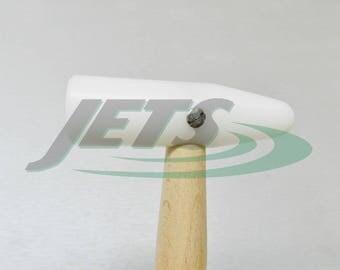 Nylon Hammer Plastic Mallet 85mm Delrin Head Dome & Round Jewelry Forming (4E)