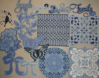 Beautiful In Blue Anna Griffin Die Cut Set