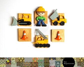 Construction Fridge Magnet Set