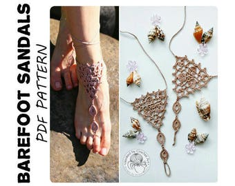 CROCHET  PATTERN Barefoot Sandals/ Crochet Pattern/ Crochet Wedding Barefoot Sandals/ Crochet Barefoot Sandals Tutorial/ Crochet Sandals