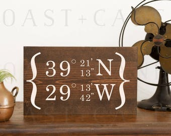 GPS coordinates sign GPS coordinates gift Coordinates sign Custom gps sign GPS sign Latitude longitude Home coordinates Location sign