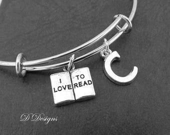 Book Bangle, Book Bracelet, Personalised Bangle, I love to Read Bangle, Reader Bracelet, Personalise Gifts, Book Jewellery, Book Lover Gifts