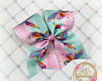 Pastel Butterfly Cheer Bow, Pastel Hair Bow, Pastel Butterfly Cheer Bow, Butterfly Hair Bow, Butterfly Cheer Bow