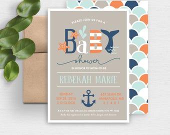 Nautical Baby Shower Invite | Nautical Baby Shower Invitation | Printable Baby Shower Invitation | Baby Shower Invite | Gender Neutral | Boy