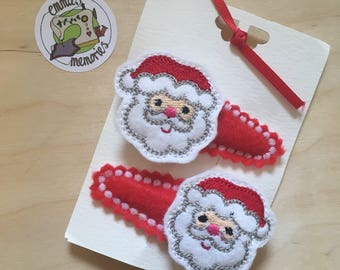 Christmas Hair clips, Rudolph Reindeer Santa Elf Owl Stocking Fillers Father Christmas, Clips, Small Gifts