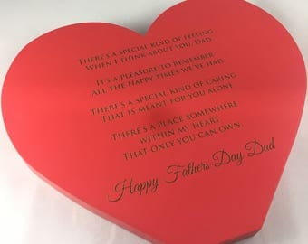 Standing Timber Heart Fathers Day Gift