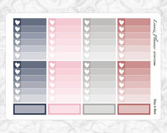 Stay in Bed Checkboxes   Stickers for your Erin Condren, Happy Planner, Kikki K, Filofax and more