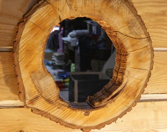Rustic Hollow Log Live Edge Mirror, Wall Mirror, Mirror, Rustic Mirror, Rustic Decor