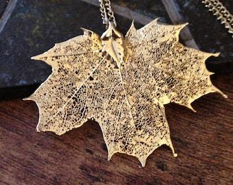 Golden Maple Leaf Necklace