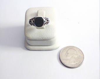Vintage Sterling Silver Signet Ring, Size 7