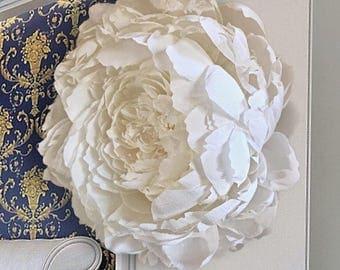 "Deluxe Peony, 18-22"" XL, Crepe Paper Flower, Hanging Wall Art |  | Wedding Decor | Baby Girl Nursery | Photo Prop | Handmade to Order"