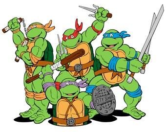 TMNT - Teenage Mutant Ninja Turtles Collection - svg, pdf, png files