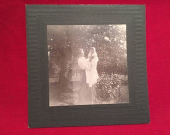 Antique 1900's Photograph of a Woman holding a Child