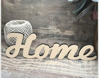 Nice writing raw wood * HOME * decorate yourself height 8 cm