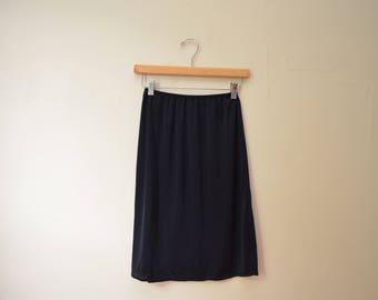 Vintage The Festival Black Mid Length Lingerie Slip Skirt Womens Size Small/Medium