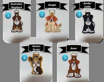 Embroidery Doggie Keychain