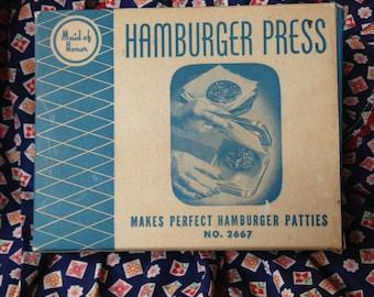 Vintage Maid of Honor wooden hamburger press