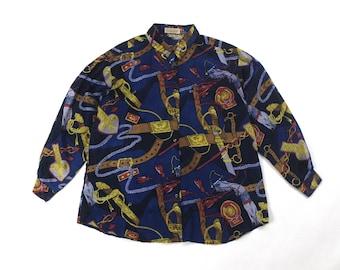 Versace inspired silk shirt