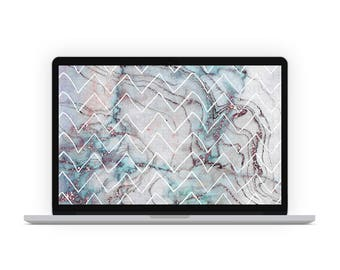 Marble & Chevrons Desktop Wallpaper
