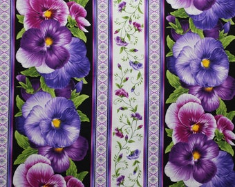 Viola by Chong-A Hwang for Timeless Treasures.  This is a quilting fabric with violets that may be used as an edging.