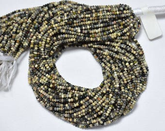 10 Strands, Dendrite Opal Beads, Opal Gem Stone, 2.40mm Beads, Faceted Rondelle, Gemstone For Jewelry, 12.5 Inches
