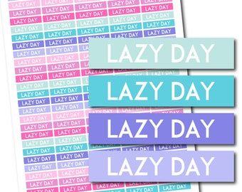 Lazy day PRINTABLE planner stickers, Lazy day boxes, Lazy day tracker, Lazy day stickers, Lazy day planner, Stickers for planner, STI-1285
